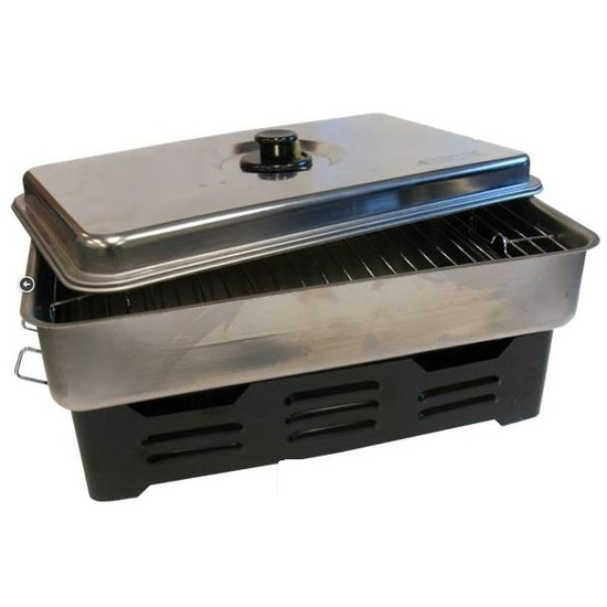 Wildfish stainless steel fish smoker 2 tray design with for Fish cooker burner