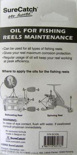 SURECATCH FISHING REEL MAINTENANCE GEAR OIL 30ML