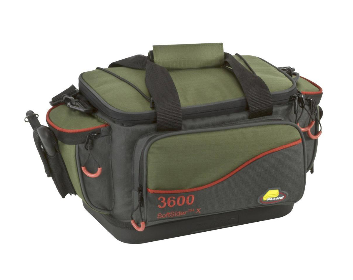 Plano 4464 x advanced series fishing tackle bag with 6 for Fishing tackle bag