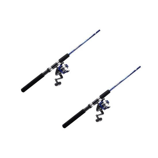 "2 x Shakespeare 6'6"" Vigilante 2 Pce Fishing Rod & Reel Combos-2-6kg-Twin Pack"