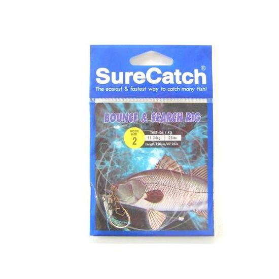 Size 2 Surecatch Bounce and Search 25lb Fishing Rig - Pre-Tied Rig