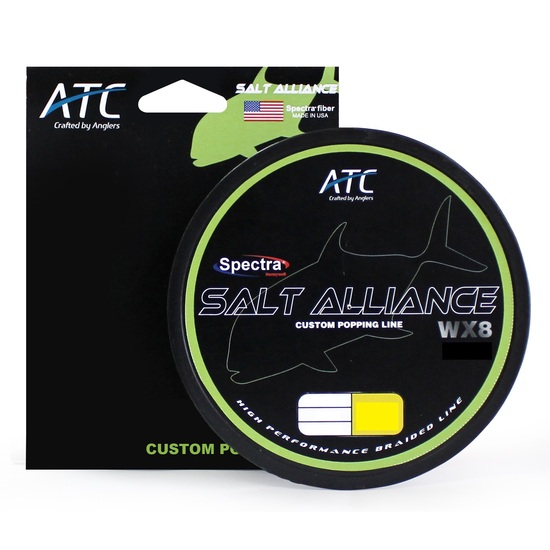 500m Spool of ATC Salt Alliance 8X Braided Fishing Line - White Fishing Braid