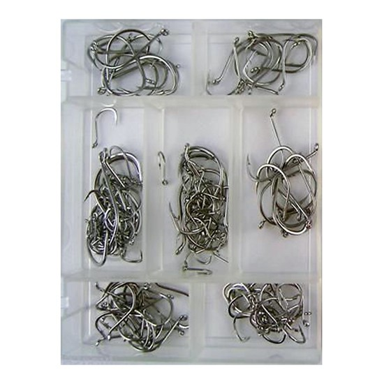 140 Pce BEAK - SUICIDE HOOK PACK IN FISHING TACKLE BOX - NEW