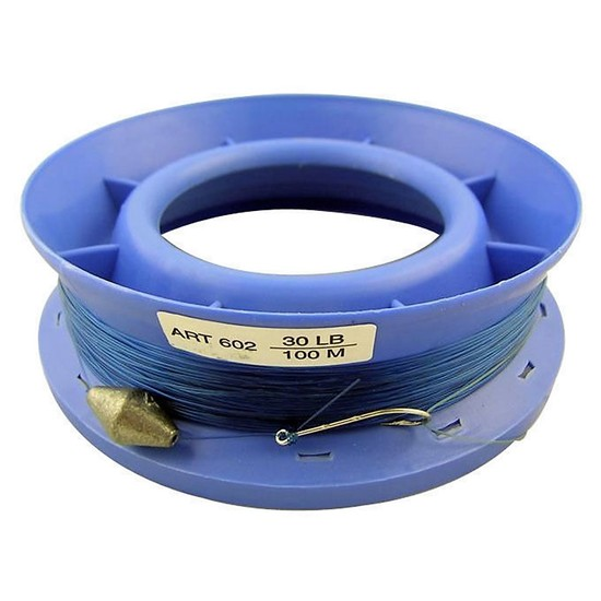 30lb PRE RIGGED 6 INCH RING CASTER HAND LINE-100m GREAT FOR THE FAMILY- BY SURECATCH