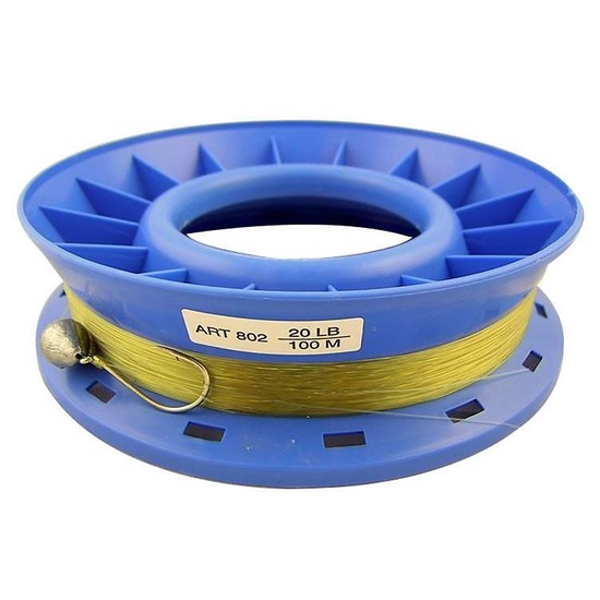 20lb PRE RIGGED 8 INCH RING CASTER HAND LINE-100m GREAT FOR THE FAMILY-BY SURECATCH