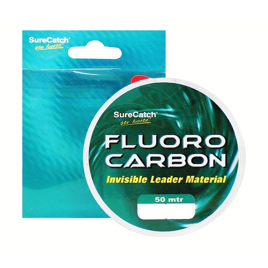 5lb Surecatch Fluorocarbon Invisible Fishing Leader Material - 50m Spool
