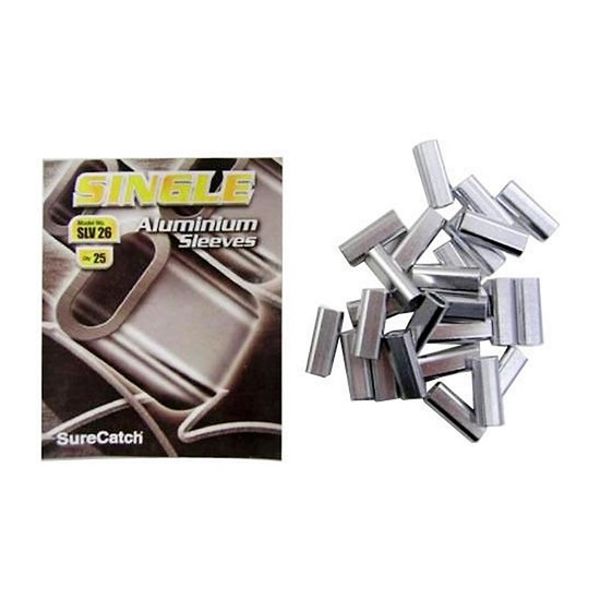 NEW ALUMINIUM FISHING CRIMPS / SLEEVES 2.6mm 25pce PACK