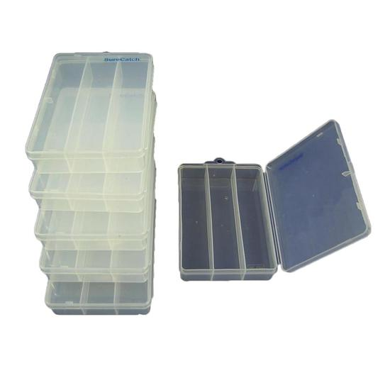 6 x Small Surecatch Wormproof Tackle Boxes -Tackle Tray #39 Bulk Pack