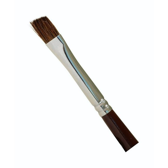 Rod Building Brush with 8mm Angled Head - 27cm Epoxy Sable Hair Brush