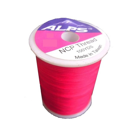 Alps 100yds of Hot Pink Rod Wrapping Thread - Size A (0.15mm) Rod Binding Cotton