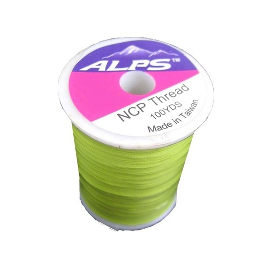 Alps 100yds of Spring Green Rod Wrapping Thread - Size A (0.15mm) Rod Binding Cotton