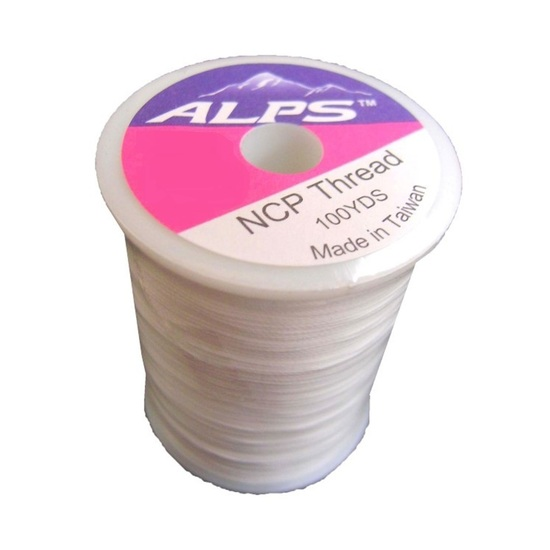 Alps 100yds of White Rod Wrapping Thread - Size A (0.15mm) Rod Binding Cotton