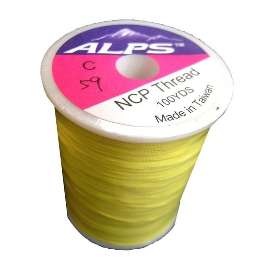 Alps 100yds of Yellow Rod Wrapping Thread - Size A (0.15mm) Rod Binding Cotton