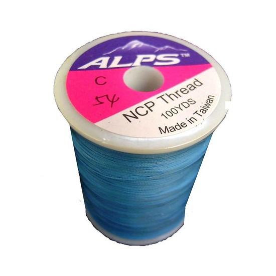 Alps 100yds of Sky Blue Rod Wrapping Thread - Size C (0.2mm) Rod Binding Cotton