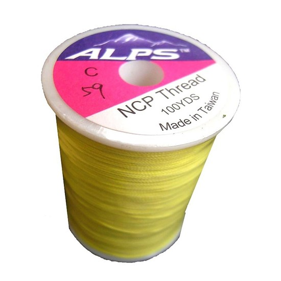 Alps 100yds of Yellow Rod Wrapping Thread - Size C (0.2mm) Rod Binding Cotton