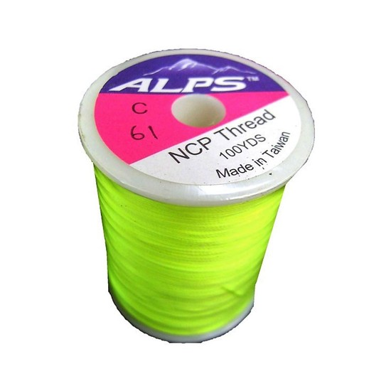 Alps 100yds of Lumin Green Rod Wrapping Thread - Size C (0.2mm) Rod Binding Cotton