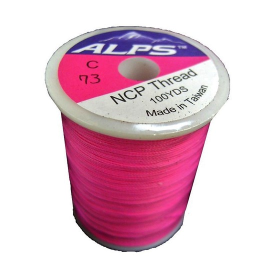 Alps 100yds of Pink Rod Wrapping Thread - Size C (0.2mm) Rod Binding Cotton