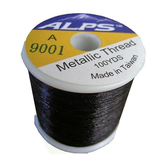 Alps 100yds of Metallic Black Rod Wrapping Thread-Size A (0.15mm) Thread