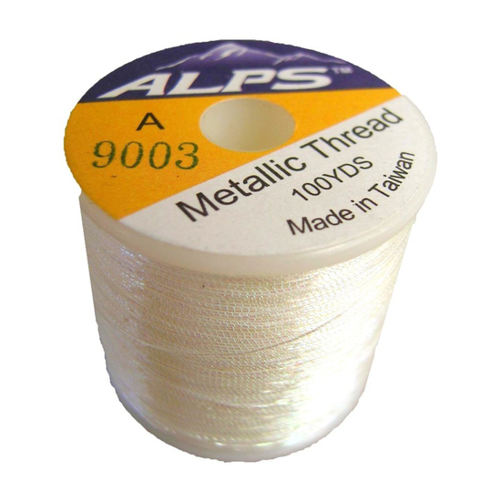 Alps 100yds of Metallic White Rod Wrapping Thread-Size A (0.15mm) Thread
