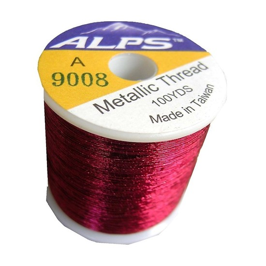 Alps 100yds of Metallic Burgundy Rod Wrapping Thread-Size A (0.15mm) Thread