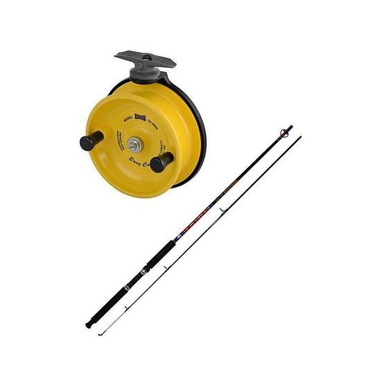 Alvey 7ft 2 Pce 2-4kg Fishing Rod & Reel Combo-500B Alvey Reel Spooled With Line
