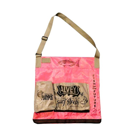 Pink Alvey Wading Bag - 2 Front Pockets with Mesh Bottoms For Drainage