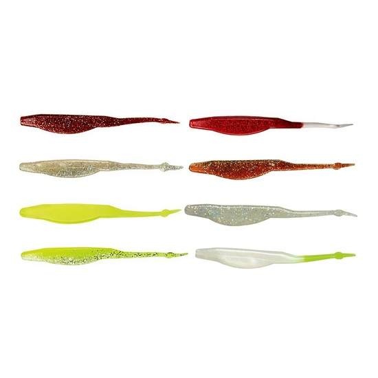 8 Pack of Exude 5 Inch RT Slug Soft Plastic Fishing Lures with Attractant Oil