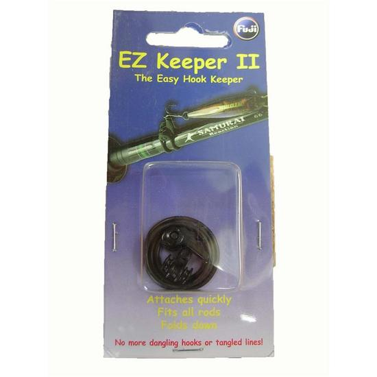 Fuji Ez Keeper Black Hook Keeper - 2 Pce Pack - Attaches To Any Fishing Rod
