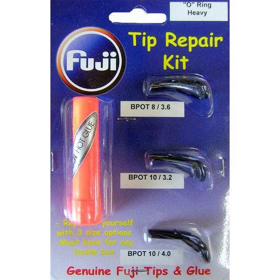 Fuji Heavy O Ring Tip Repair Kit With Hot Glue Stick - 3 Assorted Fuji Tips
