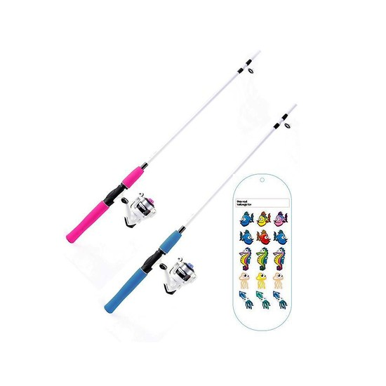 Shakespeare 6 Ft Hot Rod Kids Fishing Rod and Reel Combo With Sticker Pack