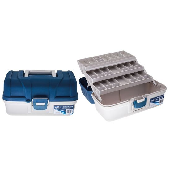 Jarvis Walker 3 Tray Fishing Tackle Box - Tool Box With Compartmentalised Trays