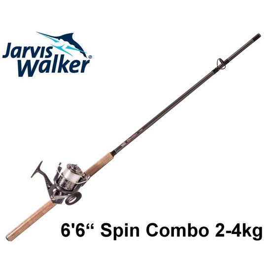 Jarvis Walker Odyssey 6'6 2-4kg 2Pce Graphite Fishing Rod & Reel Combo with Line