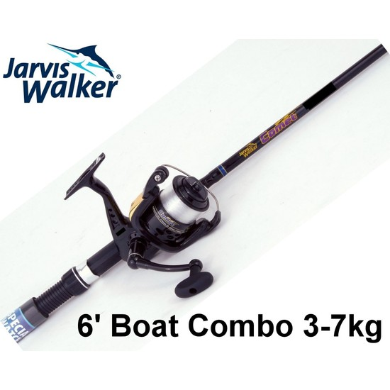 Jarvis Walker 6ft Comet 3-7kg 2pce Fishing Rod and Reel Boat Combo with Line