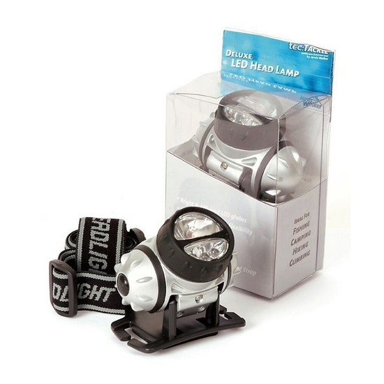 Jarvis Walker Deluxe Triple LED Headlamp with Adjustable Head Strap
