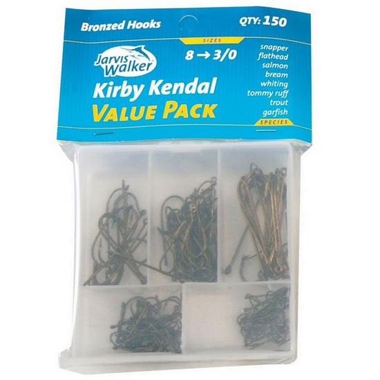 Jarvis Walker Assorted Kirby Hook Pack - 150 Pce Value Pack