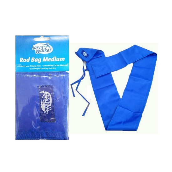 6 x Medium Size Rod Bags to Suit 2 Pce Fishing Rods Up To 8'6 by Jarvis Walker