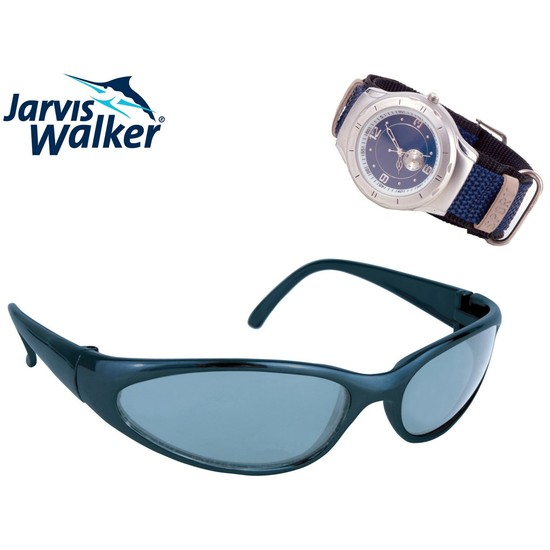 Jarvis Walker Polarized Sunglasses and Water Resistant Sports Watch Bundle