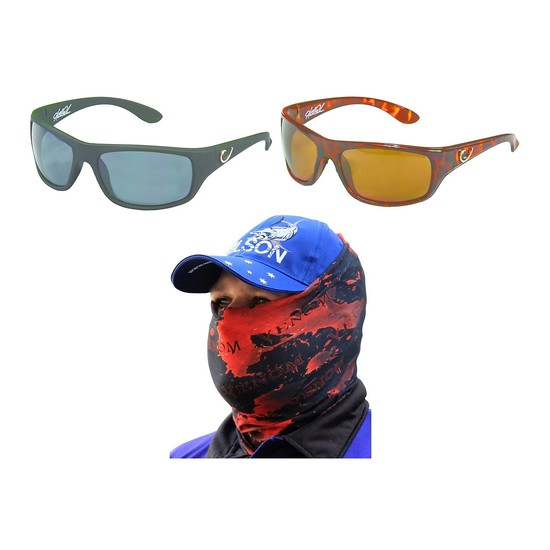 Mustad Hank Parker 100A Polarized Fishing Sunglasses with Venom Head Scarf