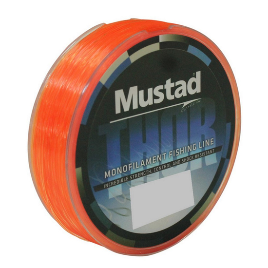 1 x 300m Spool of Mustad Thor Monofilament Fishing Line - Hot Orange Mono Line