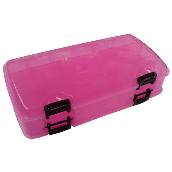 Pink Plano 3500 Double Sided Tackle Box - Tackle Tray With Up To 23 Compartments