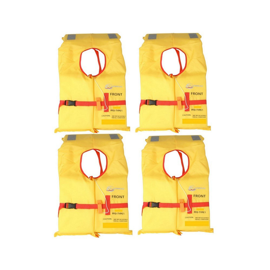 4 x Platinum Standard Block Child Life Jackets- 4 Pack of Type 1 Child PFDs