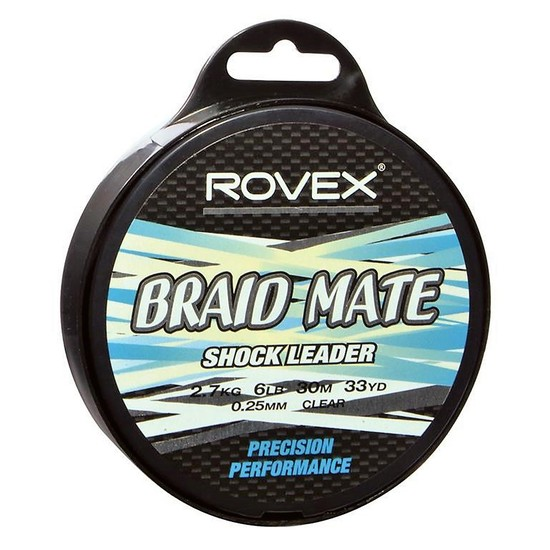 Rovex Braid Mate Shock Leader 30M Spool - 7 To Choose From