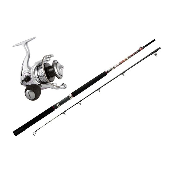 6'6 Silstar 4-6kg Power Tip and Adroit 30 - 5 Bearing Fishing Rod and Reel Combo