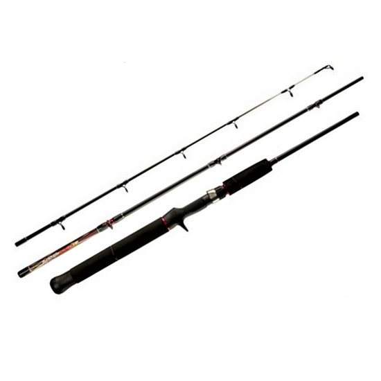 3 Piece Silstar Power Tip 3-4kg 5'3 Baitcaster Rod - Travel Rod