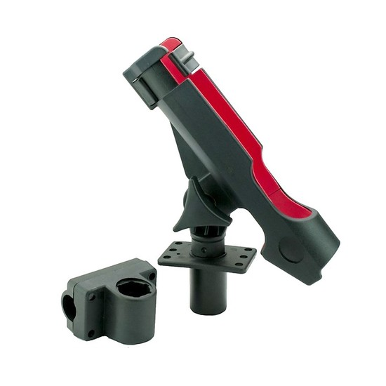 Silstar Swivel Fishing Rod Holder with Rod Lock - Flush and Rail Mount Fittings