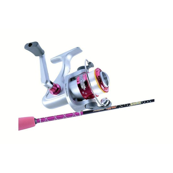 Ugly Stik 3'9 Tackle Ratz Pink Kids Rod & Reel Combo-1 Pce-Spooled With Line