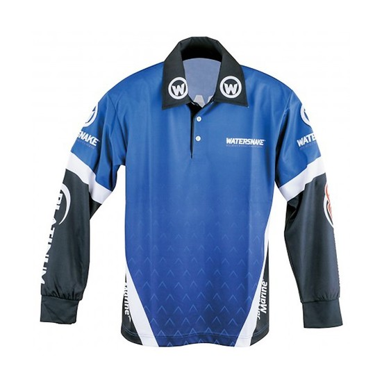 Size Small Watersnake Long Sleeve Fishing Shirt with Collar-Comfy Fishing Jersey