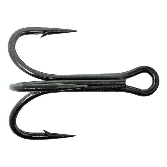 MUSTAD 36329NPBLN CHEMICALLY SHARPENED TREBLE HOOKS SIZE 1 QTY 6