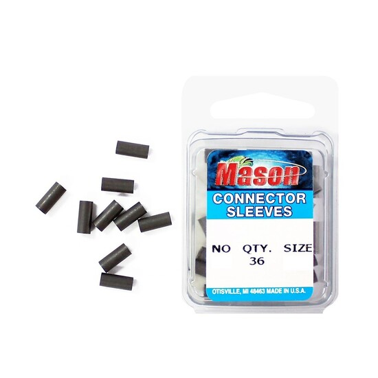 36 x Size 9 Mason Crimps - Crimping Connector Sleeves for Fishing Wire/Line
