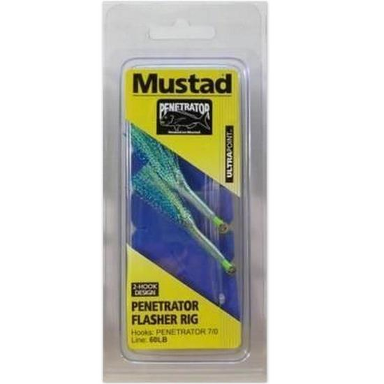 Size 7/0 Mustad Penetrator Flasher Rig - Colour 2A - 2 Hook Snapper Rig